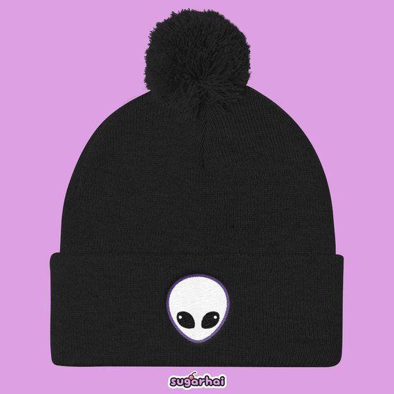 ddcab28005f Alien Head Pom Pom Knit Cap