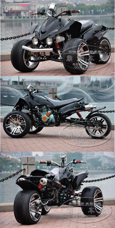Kawasaki 250cc #tricycle atv #motorcycle 14 aluminum wheels tricycle atv