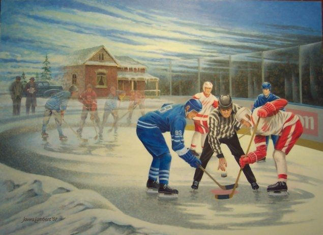 "James Lumbers - ""The Hockey Scouts"". Capturing a great past time . . . one many of us grew up with as children."
