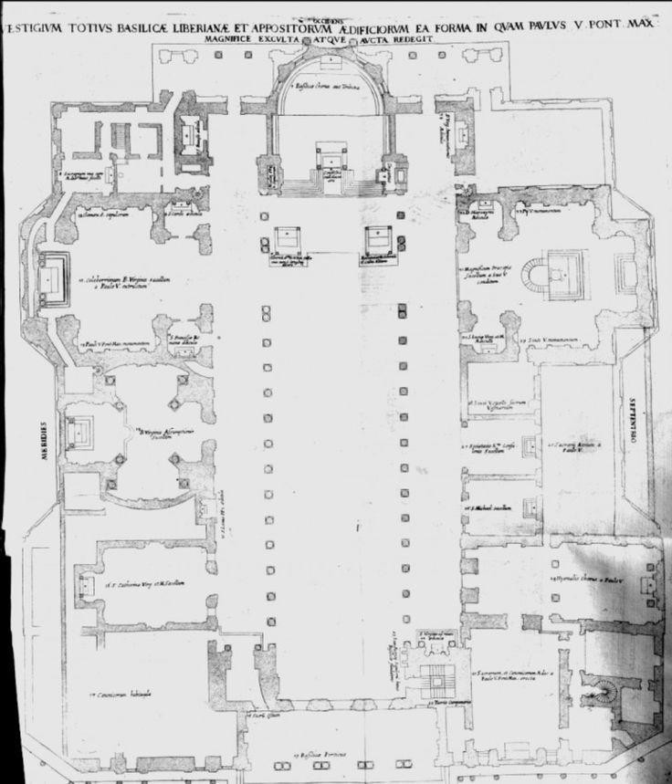 Pianta della Basilica di Santa Maria Maggiore. | ARTE ...