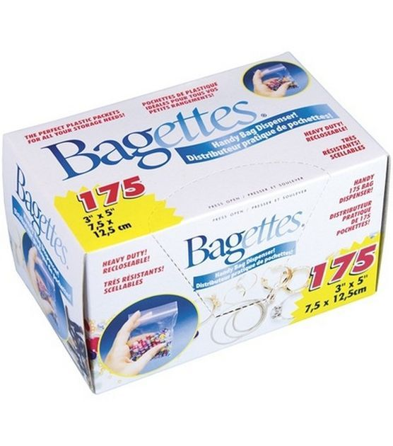 "Bagettes Heavy Duty Reclosable Bags 175/Pkg-Clear 3""X5"" at Joann.com"