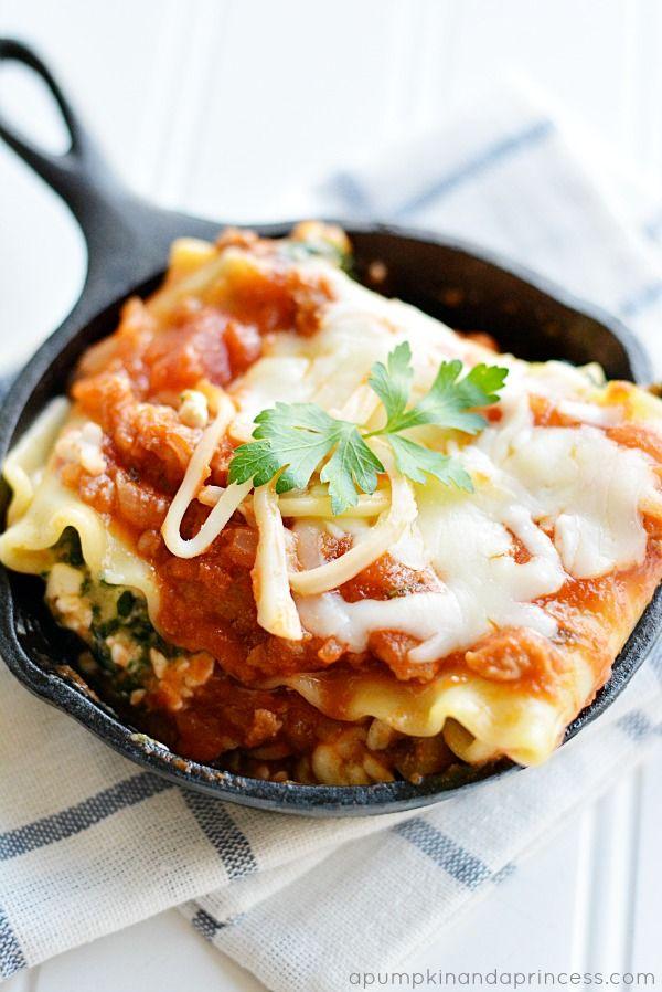 Spicy Italian Sausage Lasagna Roll Ups