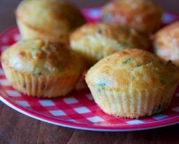 Muffins salés tomates séchées, mozzarella de bufflonne & basilic // sans gluten, sans lait de vache
