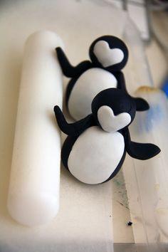 How to make Fondant Penguins #Fondant