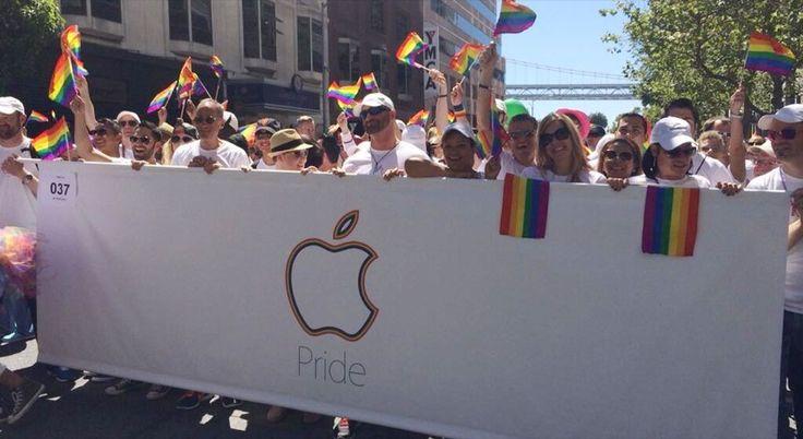 Ocho mil empleados de Apple recorren SF en el desfile del Orgullo Gay - http://www.actualidadiphone.com/ocho-mil-empleados-de-apple-recorren-sf-en-el-desfile-del-orgullo-gay/
