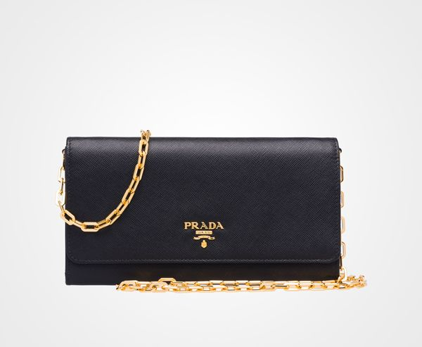Prada wallet on a chain WOC | Handbags | Pinterest | Prada Wallet ...