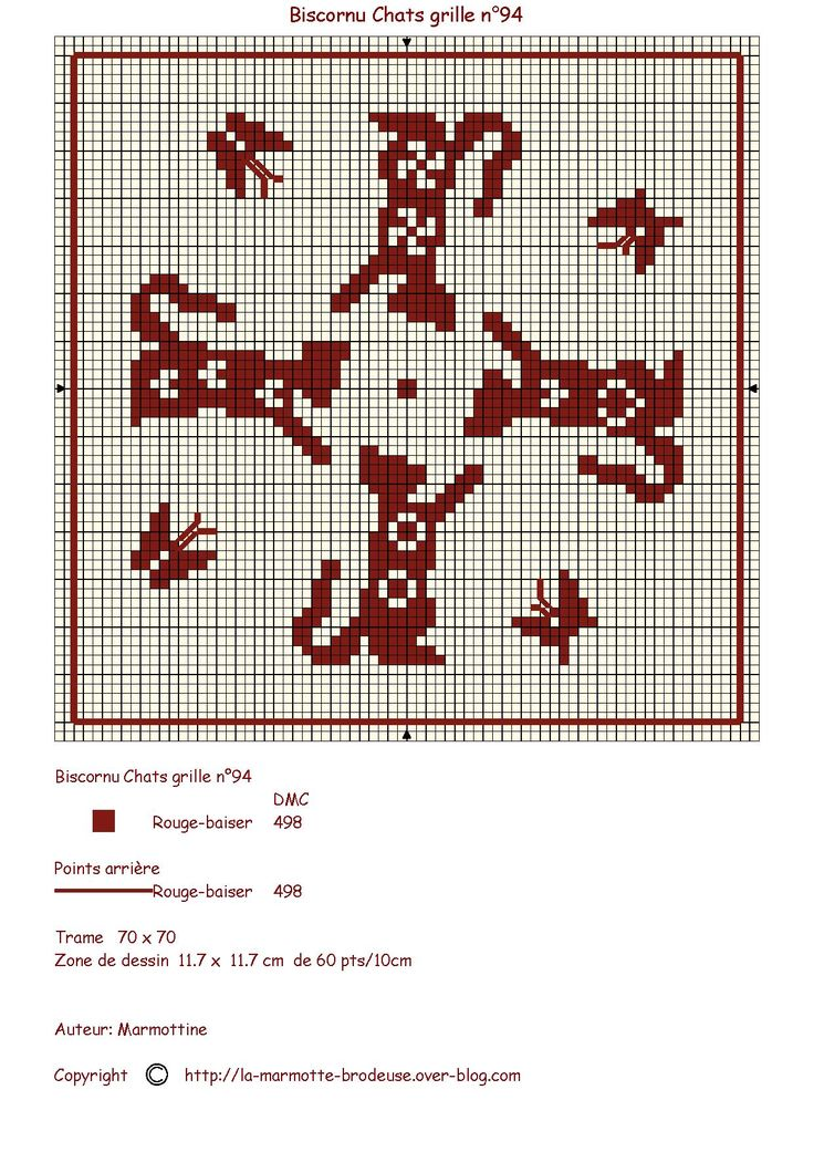FREE CHART: Biscornu Cats (Counted cross stitch)