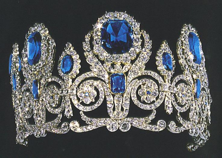 French Sapphire Tiara of the Crown Jewels