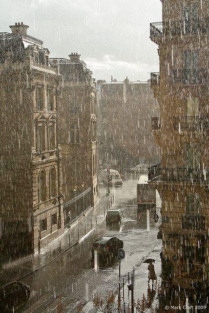 Paris in rain.