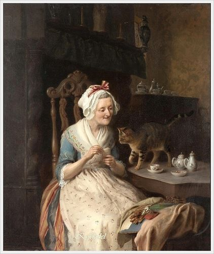 Francois Antoine de Bruycker (Belgian, 1816-1882) «The old lace-make»