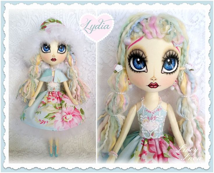 LYDIA Livvy Snow Cloth Doll www.facebook.com/1LivvySnow