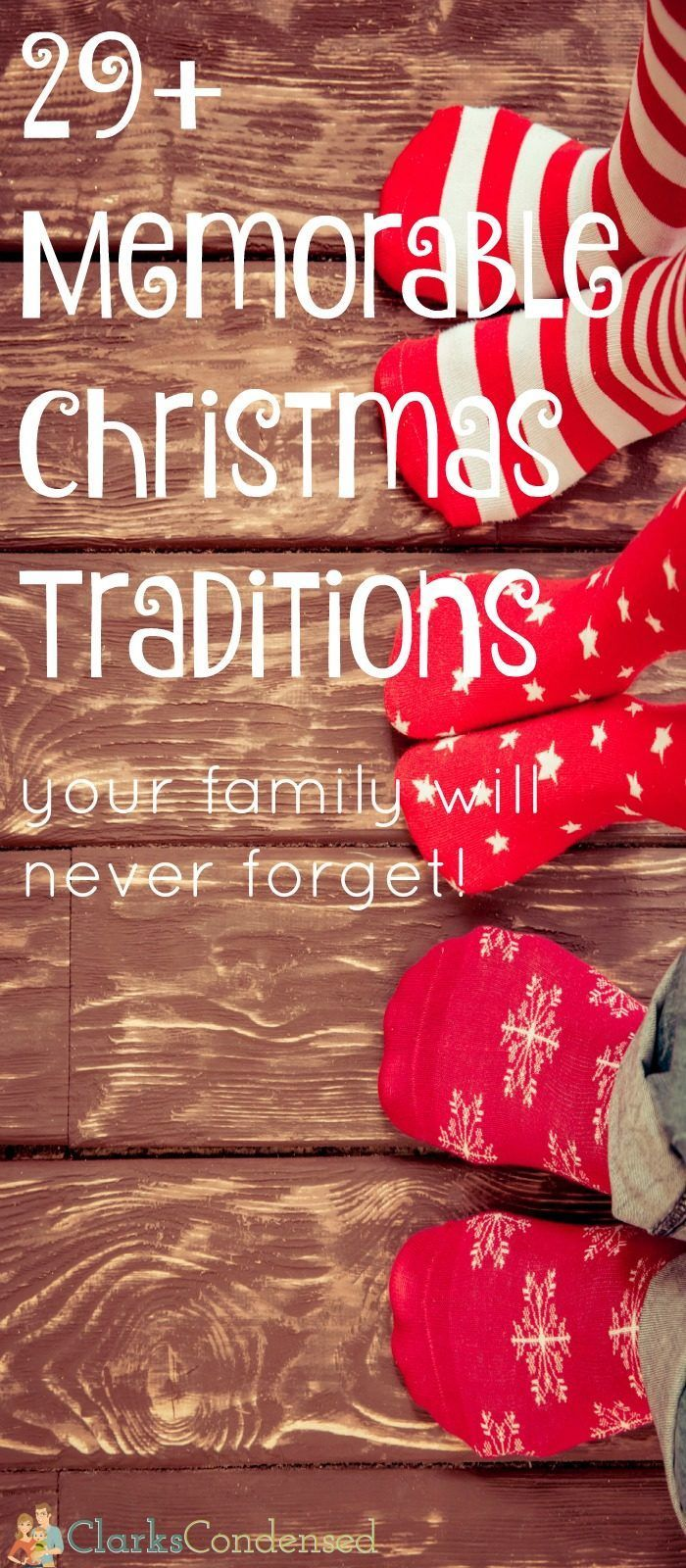 I love Christmas traditions! Here are 29+ memorable family Christmas traditions that will create a lifetime of memories for your family.