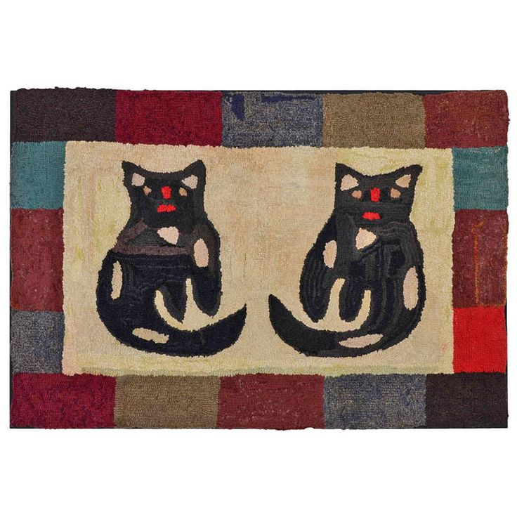 237 Best Images About Antique Hooked Rugs On Pinterest