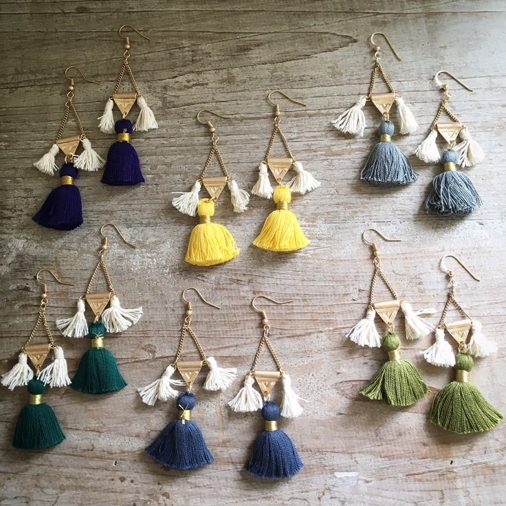 """Chicas, go long!! These colorful tassel earrings are 2"""" long and so lightweight, you'll forget that they are in your ears! Make a vibrant statement when you wear these earrings and choose your perfect"""