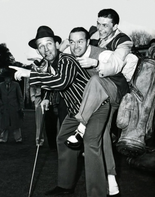 Bing Crosby, Bob Hope, and Frank Sinatra. Yes golf, that was their game. Bob Hope was an avid golfer, playing in as many as 150 charity tournaments a year. In 1937, Bing Crosby hosted the first National Pro-Am Golf Championship, where Sam Sneed won the 1st tournament. In 1978 both Crosby and Hope were voted the Bob Jones Award, the highest honor given by the United States Golf Association in recognition of distinguished sportsmanship.