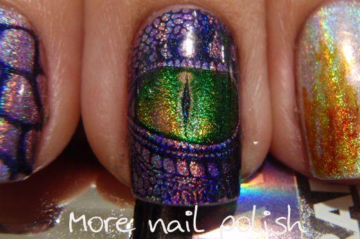 Amazing!! Dragon eyes: Purple Dragon, Dragon Eyes, Nailart, Dragons, Nails Ideas, Dragon Nails Art, Nails Polish, Eye Nails, Nail Art