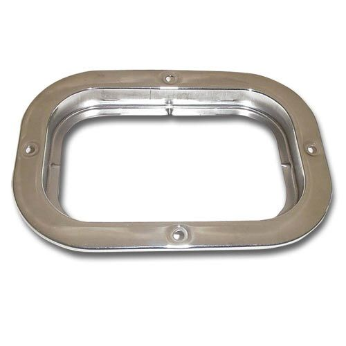 Stainless Steel Flange Mount Bezel For Large Rectangular Light