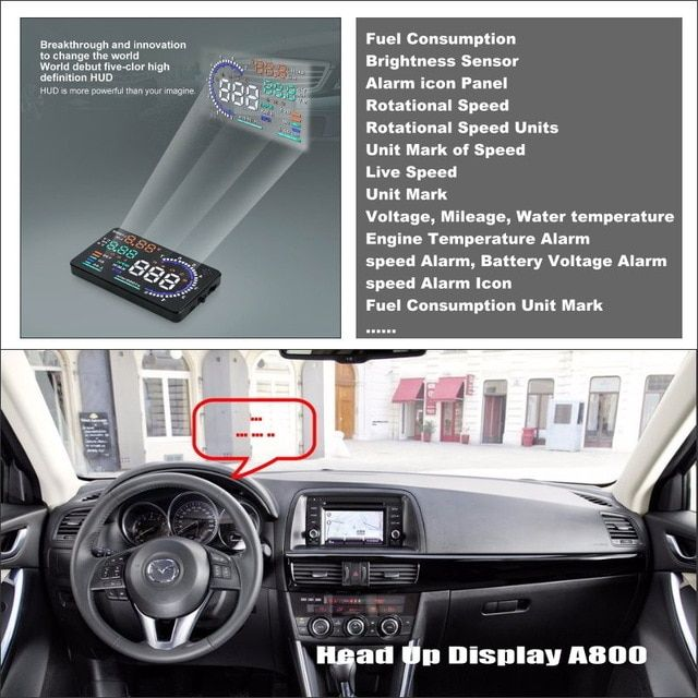 Car Hud Head Up Display For Mazda Cx 5 Cx 5 Cx5 2013 2014 2015 Refkecting Windshield Screen Safe Driving Screen Projector R Head Up Display Windshield Heads Up