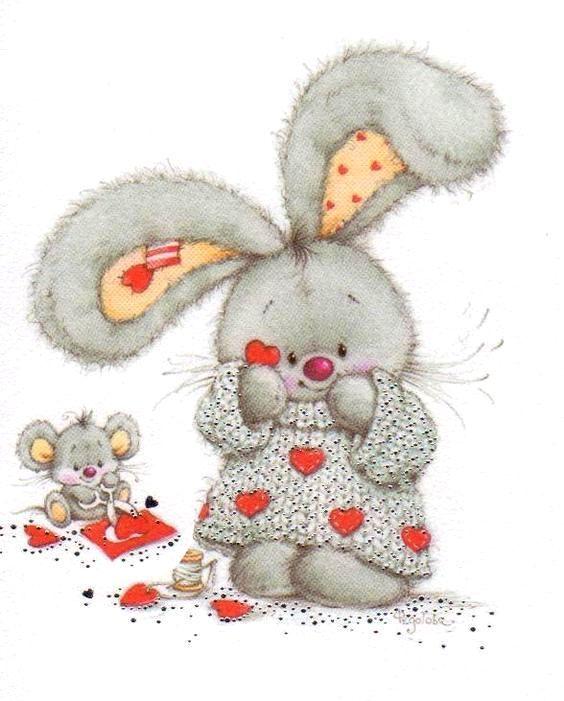 Другу, открытка для любимого зайчика
