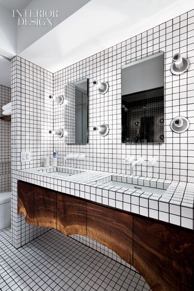 Sink fittings in the master bathroom are by Sieger Design. Photo by Michael Moran/Otto.