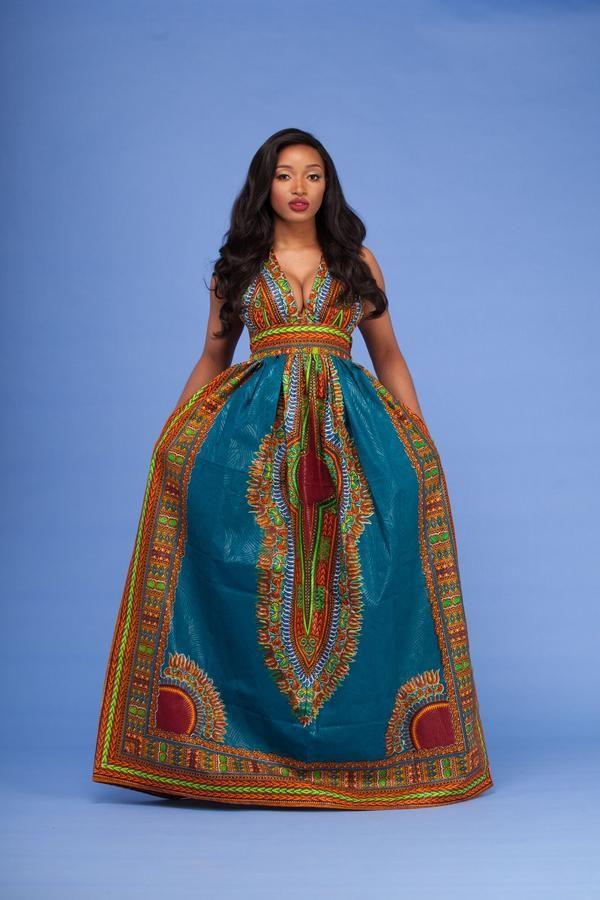 16ed1d27bec Wanti Dashiki Maxi Dress
