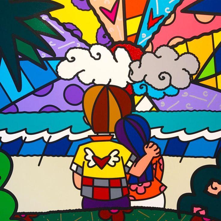 Romero Britto !   #happy #love #fun