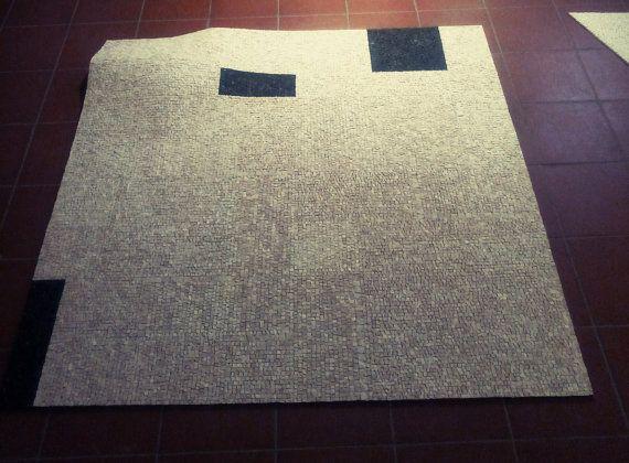 Rug mosaic. ivory black. Flexible mosaic by LaTenagliaImpazzita