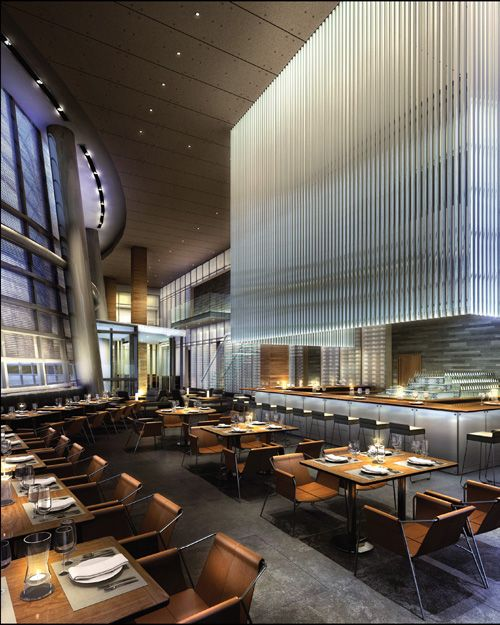 Visualization of a proposed restaurant design