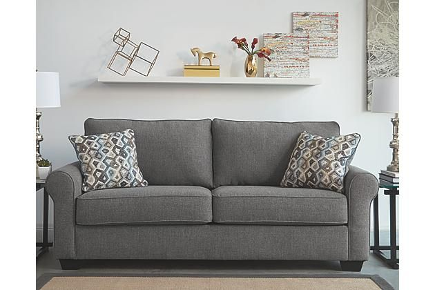 Gray Nalini Sofa By Ashley Homestore Polyester 100