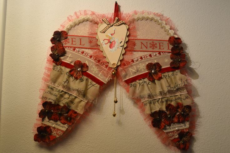 Ali Natalizie dipinte e decorate a mano , addobbo , decorazione natale di PinkDragonflyDiGiuly su Etsy