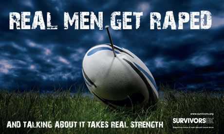 Male rape charity's hard-hitting poster campaign targets Six Nations