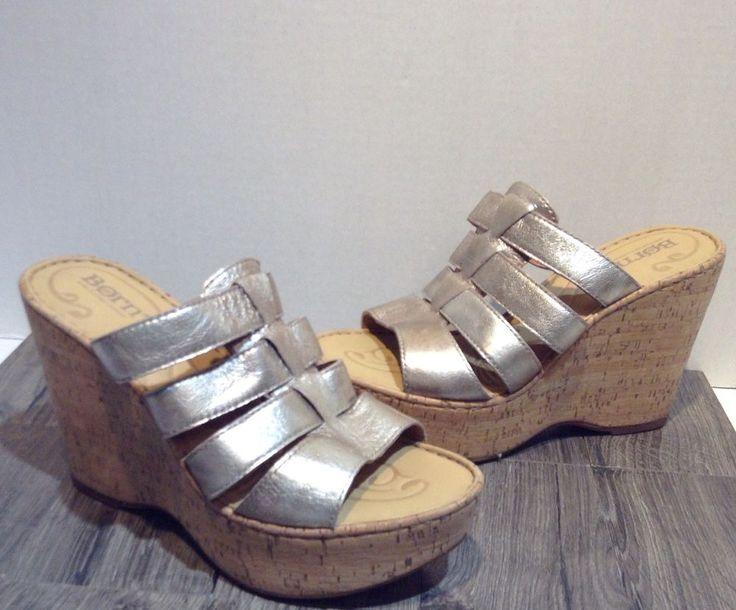 born gold wedge heels size 7 #born #wedgeheels #wedges