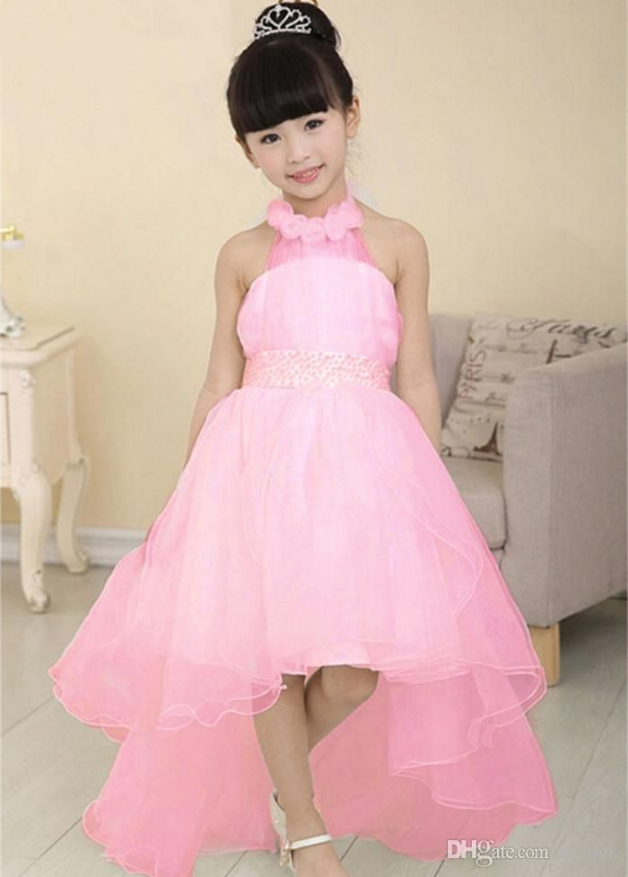 2015 Fashional Children Dresses Flowergirl Wedding Gauze Dresses for Children Kids Pageant Dresses Performance Clothing Ball Gown Big Bow from U_luck,$12.57 | DHgate.com#dhgatepin