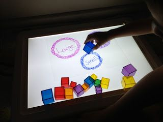 """DIY sorting """"worksheet"""" for the light table with overhead projector transparancies"""