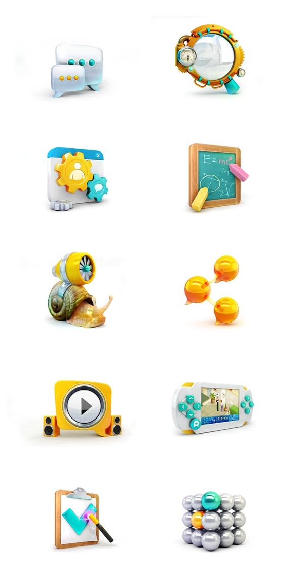 Icons by ILYA Denisenko, via Behance
