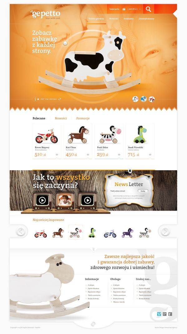 Gepetto. Toys with Soul by Marek Dąbrowski, via Behance #webdesign