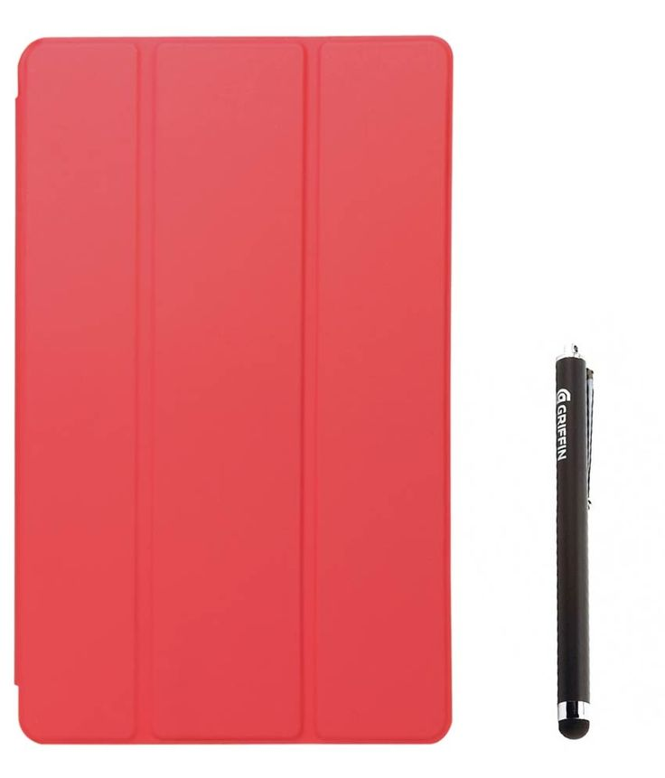 DMG Premium Tri Fold Translucent Flip Cover For Apple iPad 2/3/4 (Red) with Griffin Stylus, http://www.snapdeal.com/product/dmg-premium-tri-fold-translucent/131262374