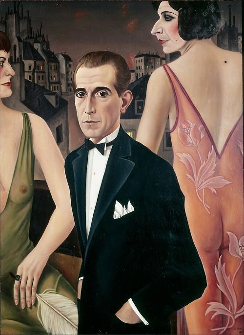 Otto Dix was a German painter and printmaker, noted for his ruthless and harshly realistic depictions of Weimar society and the brutality of war. Along with George Grosz, he is widely considered one of the most important artists of the Neue Sachlichkeit.