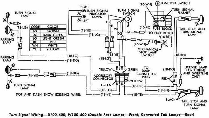 turn signal wiring diagram 2 pin flasher relay wiring diagram Turn Signal Flasher Wiring turn signal wiring diagram turn signal wiring diagram of dodge d100 600 and w100 500 wiring turn signal flasher wiring