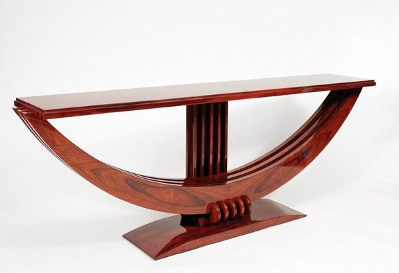 Colossal Rosewood console by Maurice Rinck Made in France circa 1930