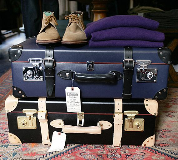 AHHH! I want luggage like this for when I go to Paris.  Darn you Globe Trotter Luggage.  Why do you have to be so expensive?