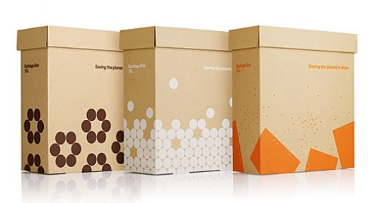 ecologic and coolAskul Garbage, Packaging Design, Packaging Inspiration, Beautiful Packaging, Paper Boxes, Stockholm Design, Design Labs, Garbage Boxes, Cardboard Boxes Packaging