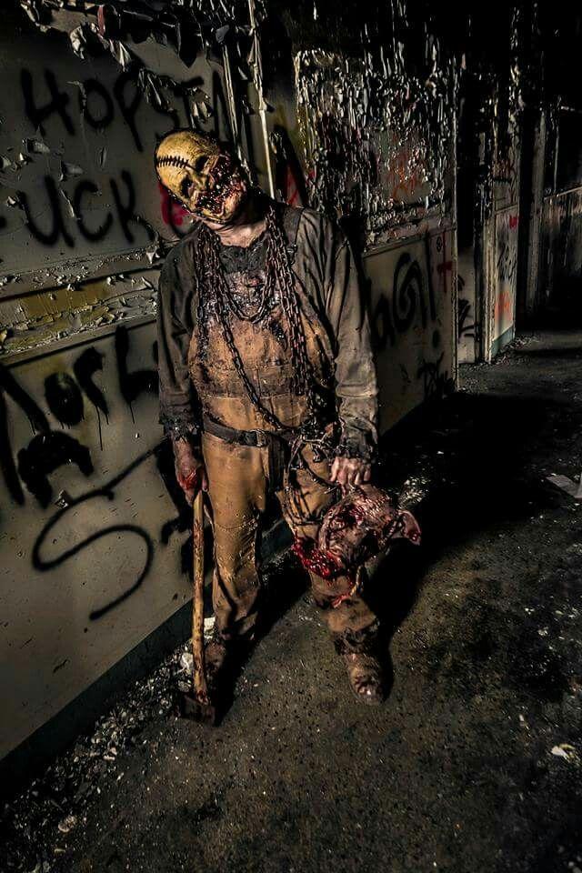 The woodland banshee costume Scary homemade mask