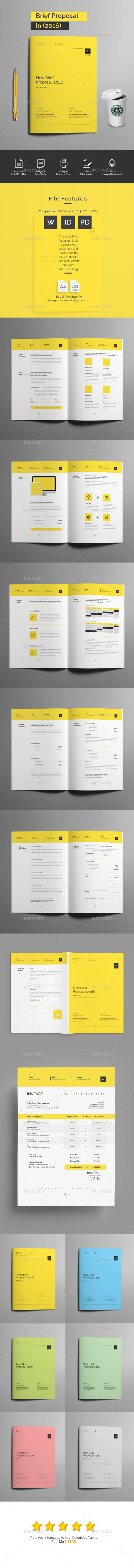 New Brief Proposal  #swiss #estimate #us letter • Click here to download ! http://graphicriver.net/item/new-brief-proposal/16025332?ref=pxcr