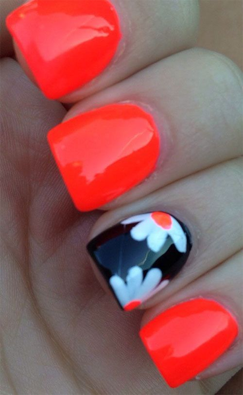 45 Warm Nails Perfect for Spring 15+ Fun & Bright Summer Gel Nail Art Designs, Ideas, Trends & Stickers 2015