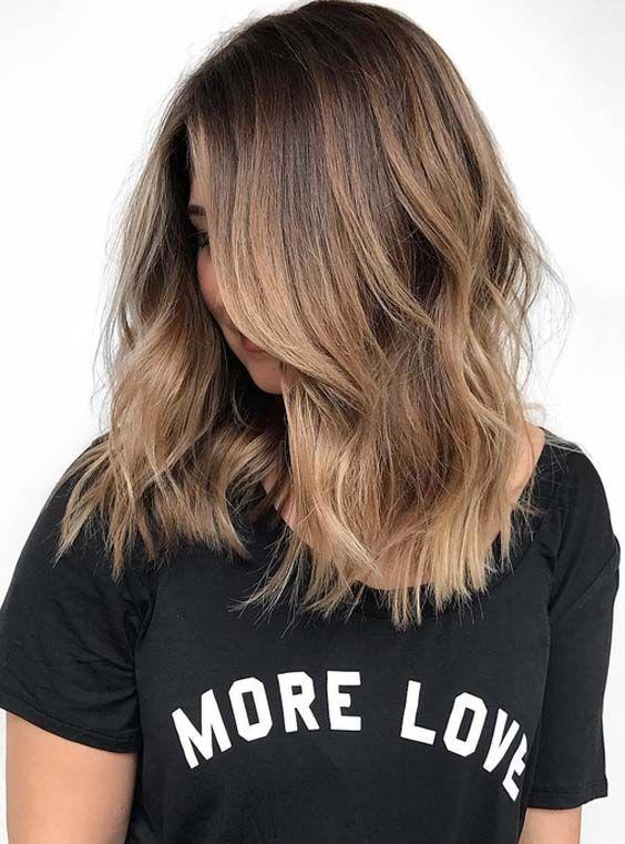 22 Pretty Brunette Ombre Hair Color Ideas For Medium Hair 2018