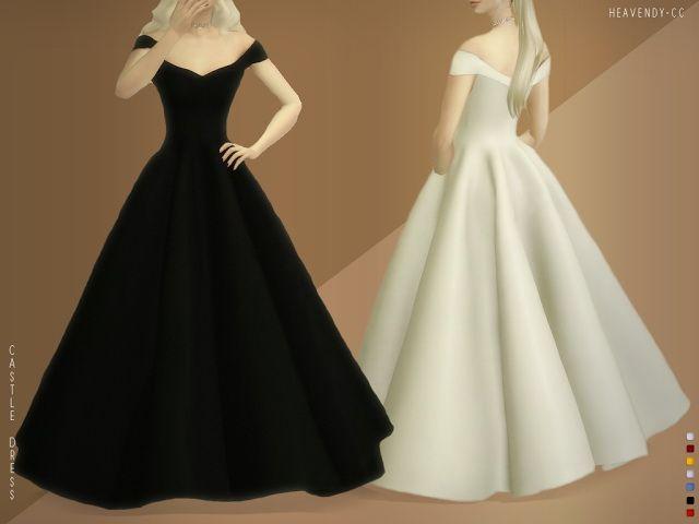Castle Dress at Heavendy-cc • Sims 4 Updates