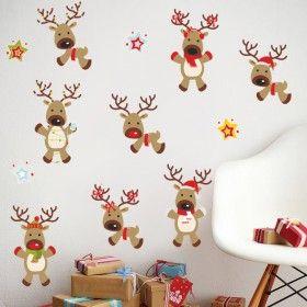 Vánoční dekorace na zeď - Sobíci