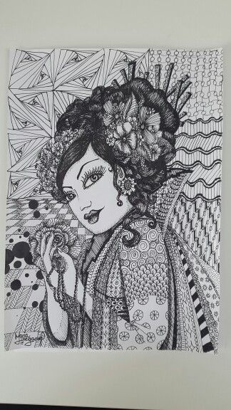 Zendoodle geisha