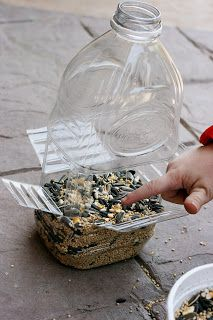 DIY bird feeder - quick, easy & inexpensive!